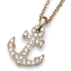 Přívěsek s krystaly Swarovski Oliver Weber Anchor Gold