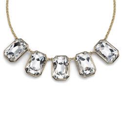 Náhrdelník s krystaly Swarovski Oliver Weber Excessive Gold