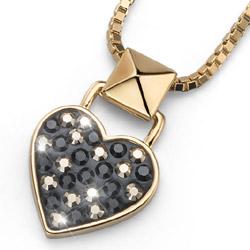 Pøívìsek s krystaly Swarovski Oliver Weber Lucky Heart Gold