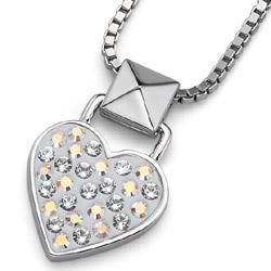 Přívěsek s krystaly Swarovski Oliver Weber Lucky Heart Crystal AB