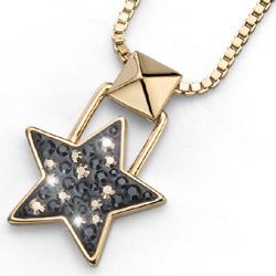 Pøívìsek s krystaly Swarovski Oliver Weber Lucky Star Gold