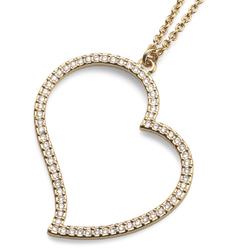 Náhrdelník s krystaly Swarovski Oliver Weber Heart Large Gold