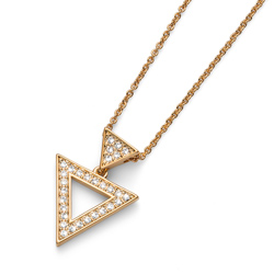 Pøívìsek s krystaly Swarovski Oliver Weber Tri Gold