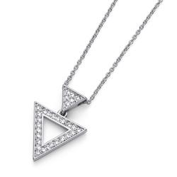 Pøívìsek s krystaly Swarovski Oliver Weber Tri Silver
