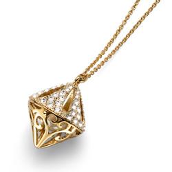 Pøívìsek s krystaly Swarovski Oliver Weber Spirit Gold