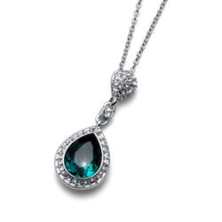 Pøívìsek s krystaly Swarovski Oliver Weber Power Emerald