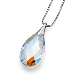 Pøívìsek s krystaly Swarovski Oliver Weber Vitality Large Silver
