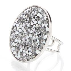Prsten s krystaly Swarovski Rock 11700553CR
