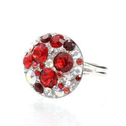 Prsten s krystaly Swarovski Rivoli Siam