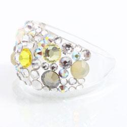 Prsten s krystaly Swarovski Plastic Citrine