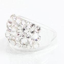 Prsten s krystaly Swarovski Plastic Crystal