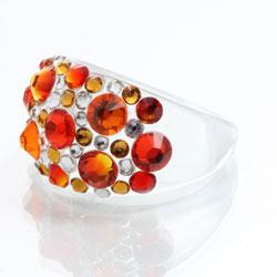 Prsten s krystaly Swarovski Plastic Fire