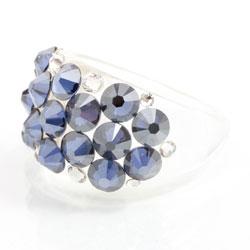 Prsten s krystaly Swarovski Plastic Montana