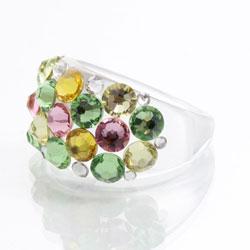 Prsten s krystaly Swarovski Plastic Mix