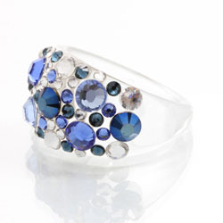 Prsten s krystaly Swarovski Plastic Saphire