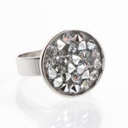 Prsten s krystaly Swarovski Rock 11703553CR