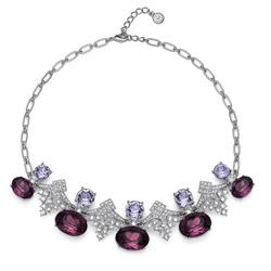 Náhrdelník s krystaly Swarovski Oliver Weber Sudden violet 11741