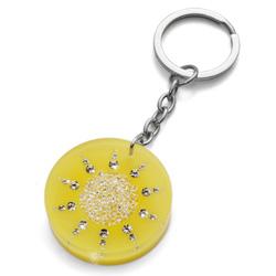 Přívěsek na klíče s krystaly Swarovski Oliver Weber Fancy Sun 1702-YEL