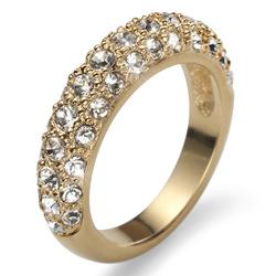 Prsten s krystaly Swarovski Oliver Weber Classic Gold
