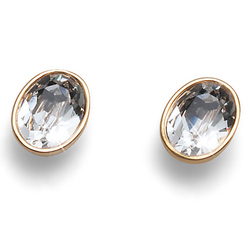 Náušnice s krystaly Swarovski Oliver Weber Oval Gold