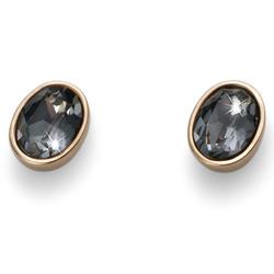 Náušnice s krystaly Swarovski Oliver Weber Oval Gold Night