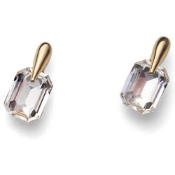 Náušnice s krystaly Swarovski Oliver Weber Club Gold