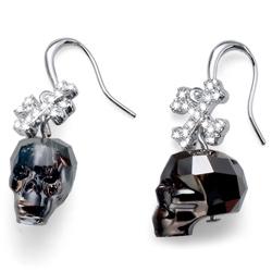 Náušnice s krystaly Swarovski Oliver Weber Skull