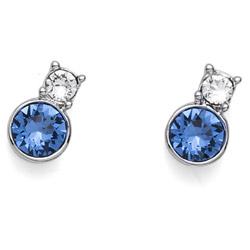 Náušnice s krystaly Swarovski Oliver Weber Lindo Sapphire