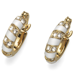Náušnice s krystaly Swarovski Oliver Weber Variant Mini Gold