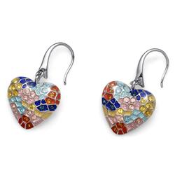 Náušnice s krystaly Swarovski Oliver Weber Gaudí Heart