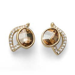 Náušnice s krystaly Swarovski Oliver Weber Glad Golden