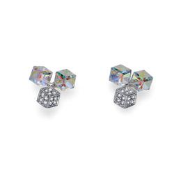 Náušnice s krystaly Swarovski Oliver Weber Quad 22629-AB