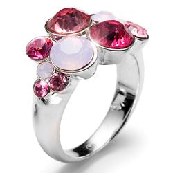 Prsten s krystaly Swarovski Oliver Weber Plural Rose