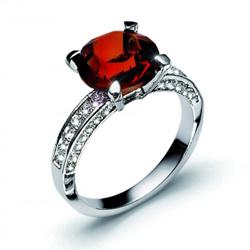 Prsten s krystaly Swarovski Oliver Weber Princess 41064-208