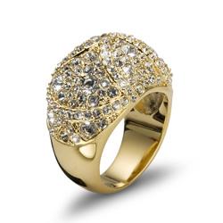Prsten s krystaly Swarovski Oliver Weber Mystery 2466G
