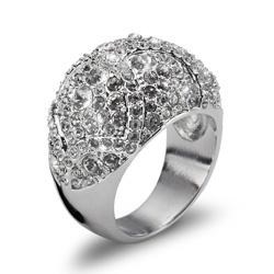 Prsten s krystaly Swarovski Oliver Weber Mystery 2466R