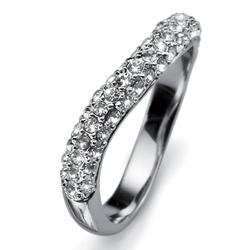 Prsten s krystaly Swarovski Oliver Weber Brill 41080R