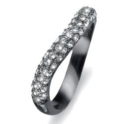Prsten s krystaly Swarovski Oliver Weber Brill 2476RU