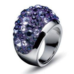 Prsten s krystaly Swarovski Oliver Weber Couleur 2482-VIO