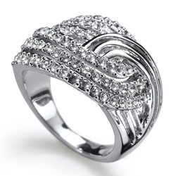 Prsten s krystaly Swarovski Oliver Weber Jump