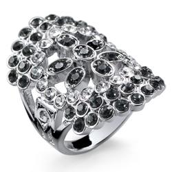 Prsten s krystaly Swarovski Oliver Weber Trendy