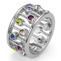 Prsten s krystaly Swarovski Oliver Weber Lively