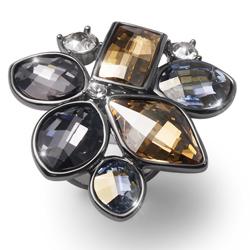 Prsten s krystaly Swarovski Oliver Weber Lemon