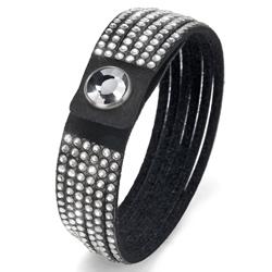 Obrázek č. 1 k produktu: Náramek Oliver Weber s krystaly Swarovski Simple Cut Black
