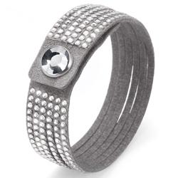 Obrázek č. 1 k produktu: Náramek Oliver Weber s krystaly Swarovski Simple Cut Grey