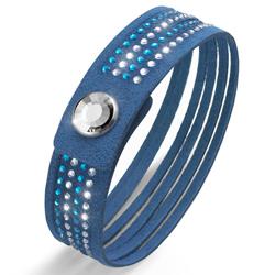 Obrázek č. 1 k produktu: Náramek Oliver Weber s krystaly Swarovski Simple Cut Sapphire Blue