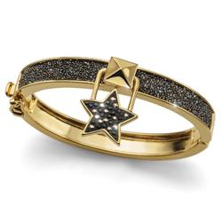 Náramek s krystaly Swarovski Oliver Weber Lucky Star Gold