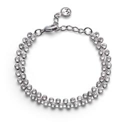 Náramek s krystaly Swarovski Oliver Weber Double Silver
