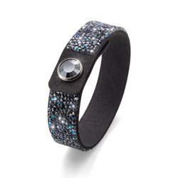 Náramek s krystaly Swarovski Oliver Weber Glitter 32191-GRY