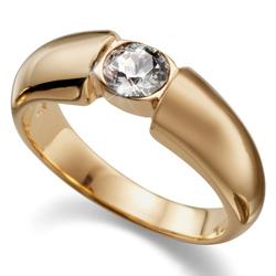 Prsten s krystaly Swarovski Oliver Weber Solitaire Gold